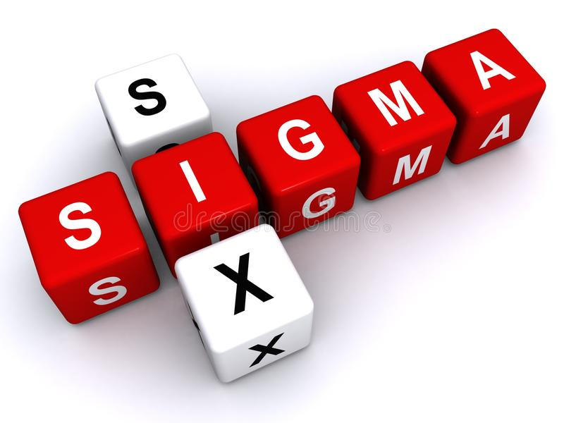 Seis sinais do Sigma fotografia de stock royalty free