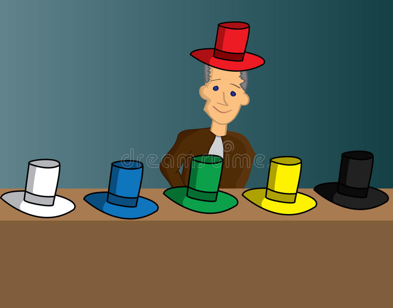 Seis sombreros de pensamiento libre illustration