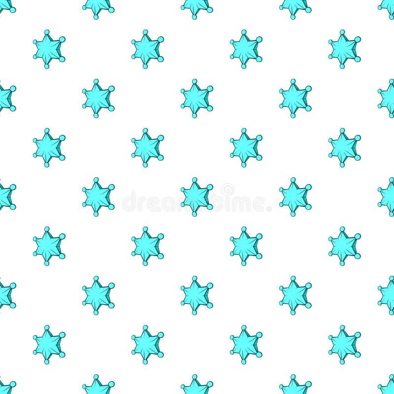 Seis testes padrões de estrela aguçado, estilo dos desenhos animados ilustração royalty free