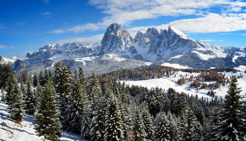 Seiser Alm in winter royalty free stock image