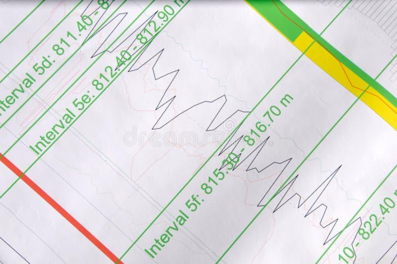 Seismische Daten stockbild