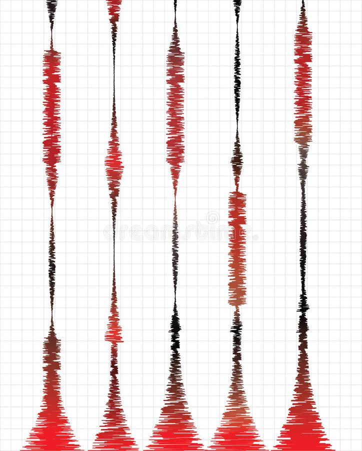 Seismografen stock illustratie