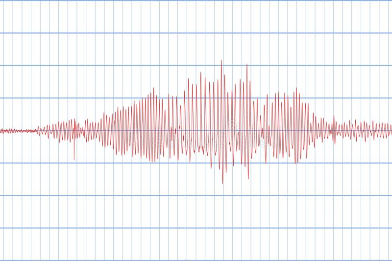 Seismograph and Earthquake. Seismic activity. Lie detector. Audio wave diagram. Vector illustration vector illustration
