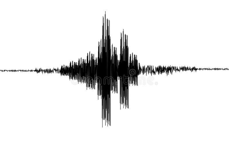 SeismogramSeismic, het verslag van de aardbevingsactiviteit Vector illustratie royalty-vrije illustratie