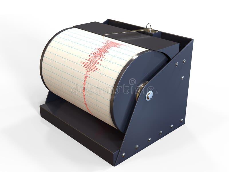 Seismograph instrument recording royalty free illustration