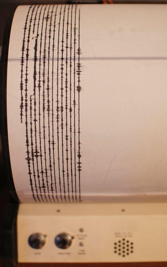 Seismograph-Messwerte stockbild