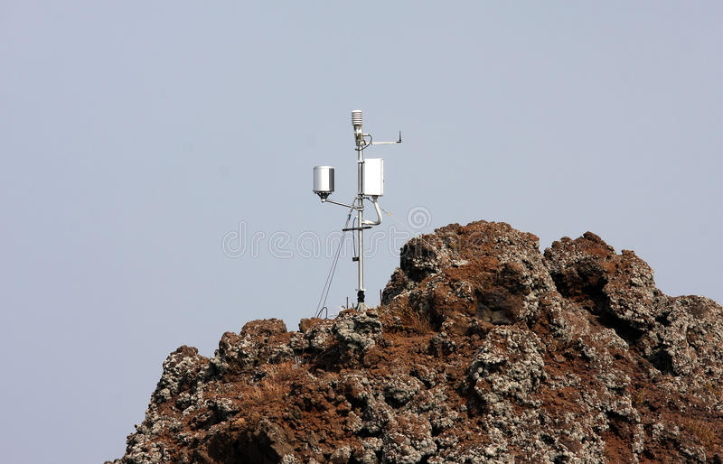 Seismometer at mount Vesuvius, Naples, Italy royalty free stock photography