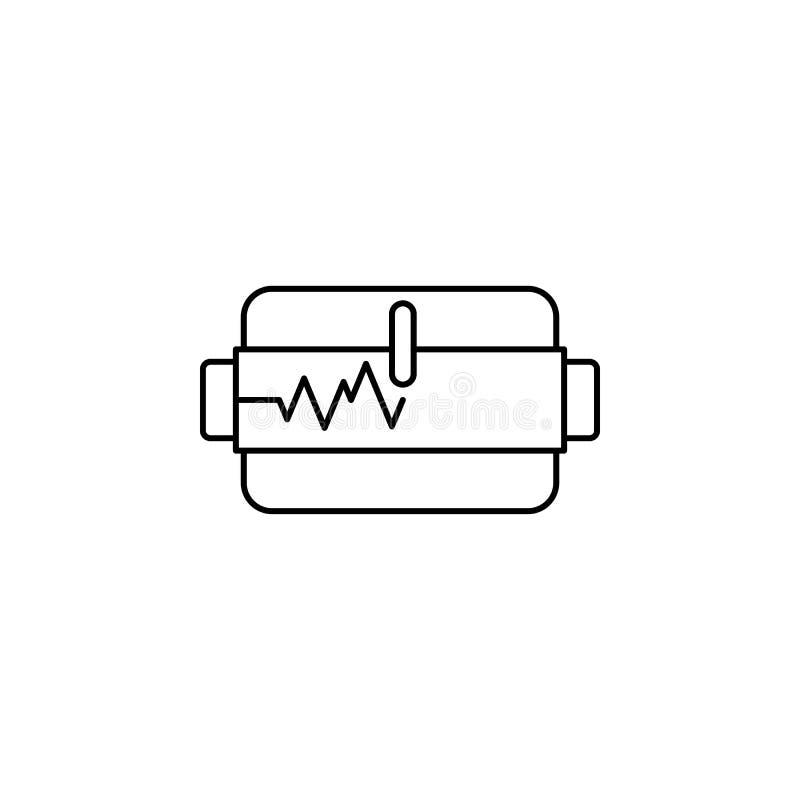 Seismometer seismic earthquake icon. Element of natural disaster icon stock illustration