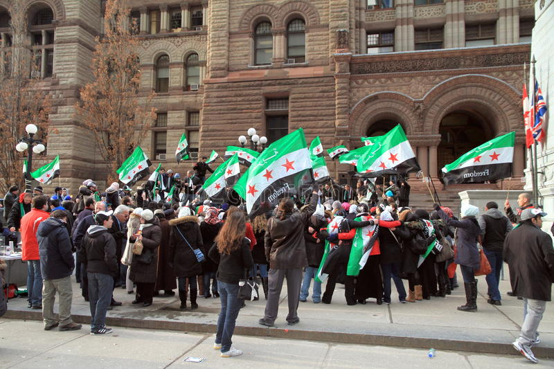 Syrische Anhänger in Toronto stockbilder