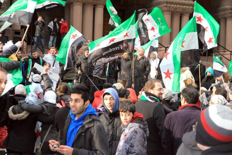 Syrische Anhänger in Toronto stockfotografie