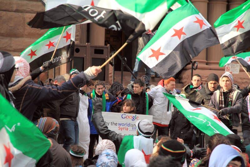 Syrische Anhänger in Toronto lizenzfreie stockfotografie
