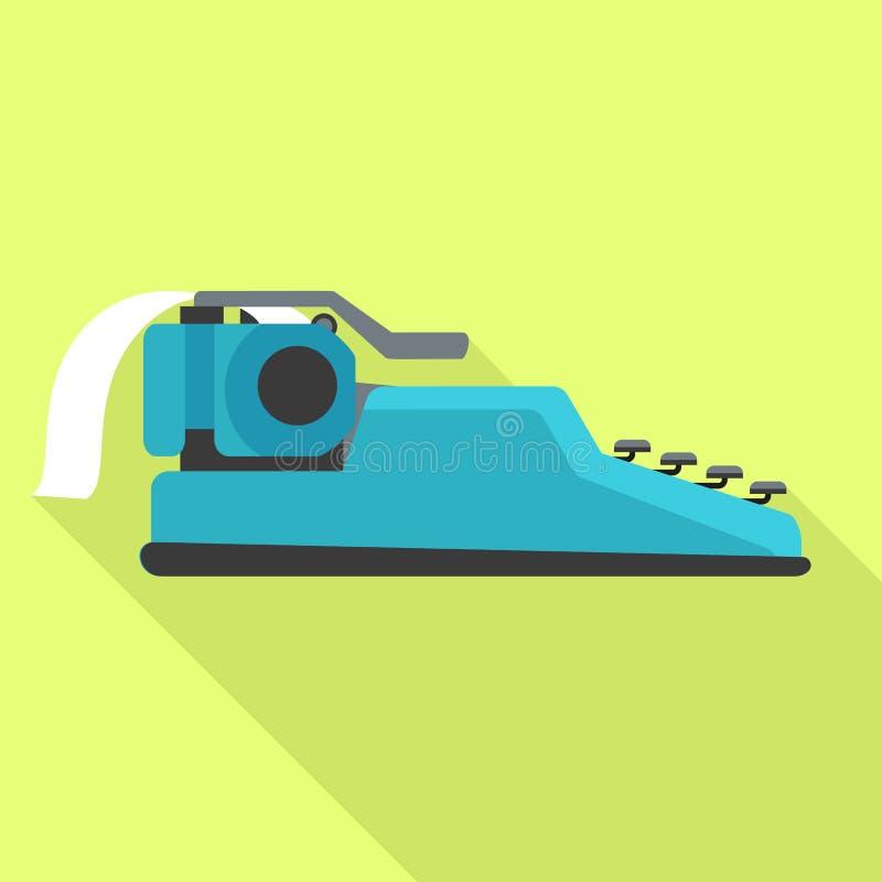 Seite der Schreibmaschinenikone, flache Art lizenzfreie abbildung