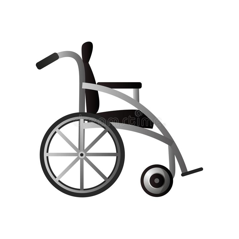 Seite des modernen Rollstuhls f?r medizinisches Krankenhaus oder Hauptgebrauch lizenzfreie abbildung
