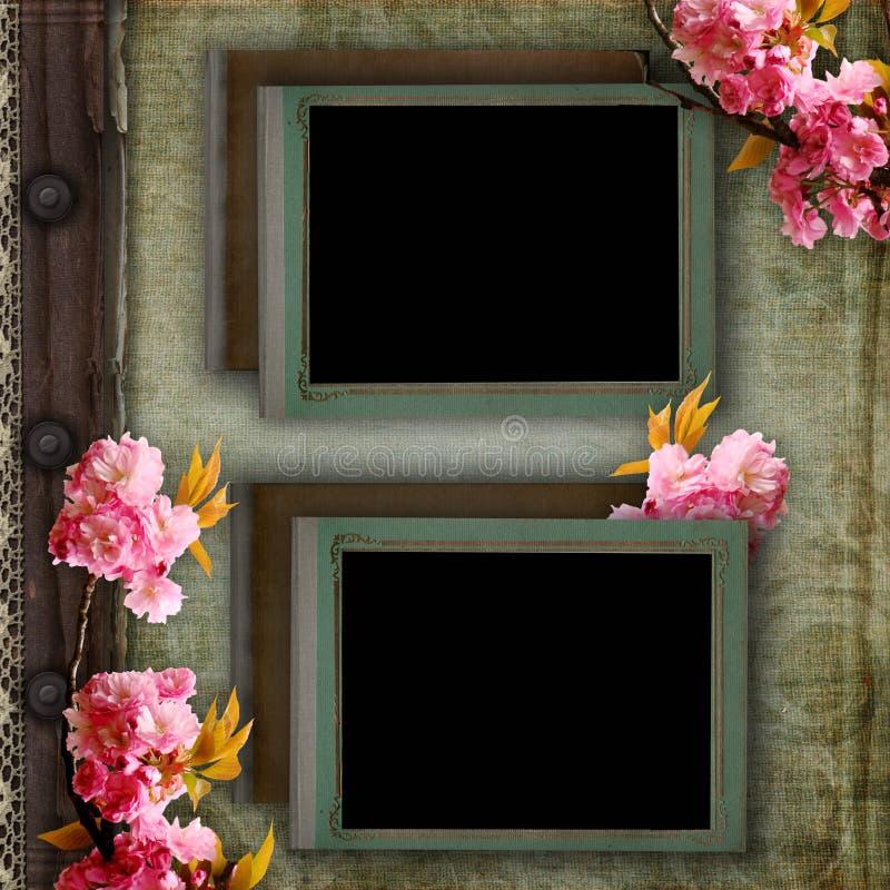 Seite des Weinlesefotoalbums vektor abbildung