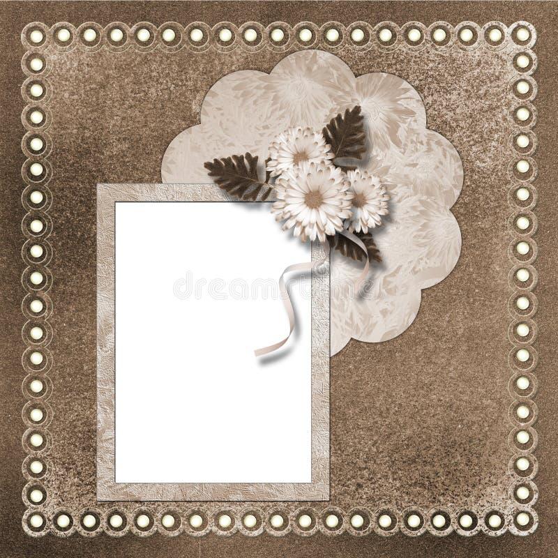 Seite für Foto oder Einladung lizenzfreie abbildung