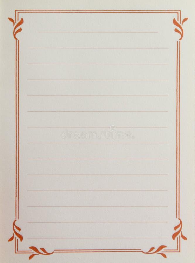 Seite mit dekorativem Weinleserand lizenzfreie abbildung