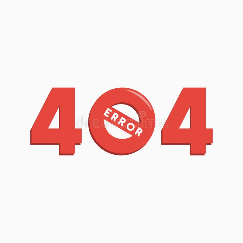 Seite nicht fand, Fehler 404, nicht anzuschließen stock abbildung