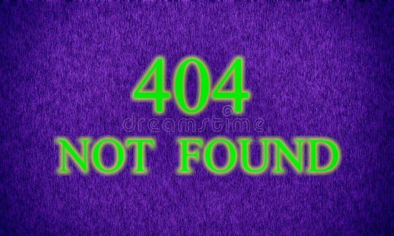 Seite nicht fand, Serverfehler 404 stockbild