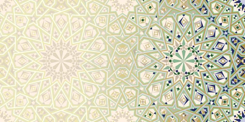 Seiten-Design-Schablone mit Marokko-Verzierung lizenzfreie abbildung