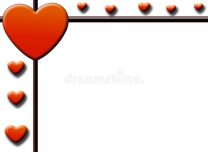 Seiten-Rand des Valentinsgrußes vektor abbildung