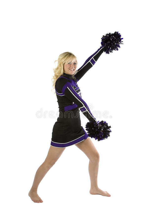 Seitenansicht der Cheerleader lizenzfreies stockbild
