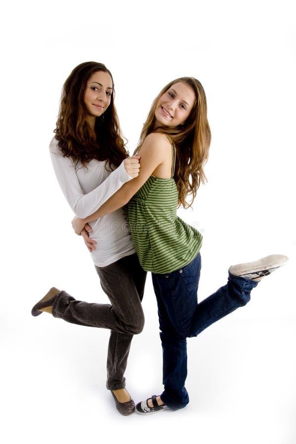 Seitenansicht der jungen schönen Frauen lizenzfreies stockfoto
