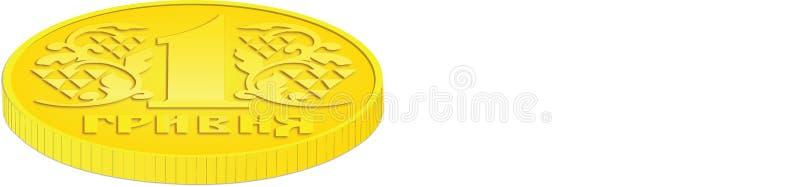 Seitenansicht der Münze stockfoto