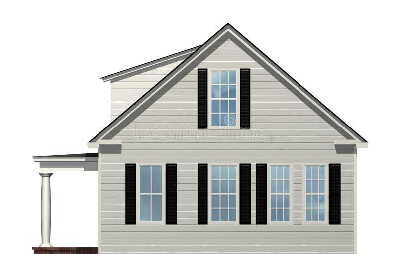 Seitenansicht des Hauses vektor abbildung