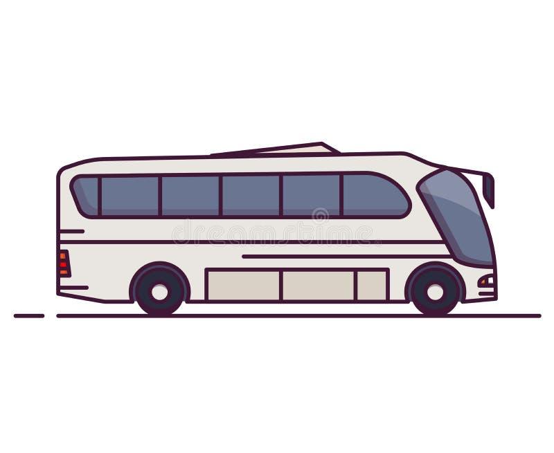Seitenansicht des modernen Busses lizenzfreie abbildung