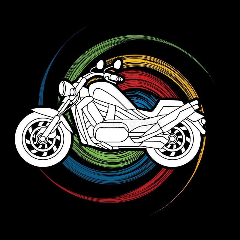 Seitenansicht des Motorrads, Zerhacker vektor abbildung