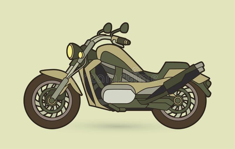 Seitenansicht des Motorrads, Zerhacker lizenzfreie abbildung