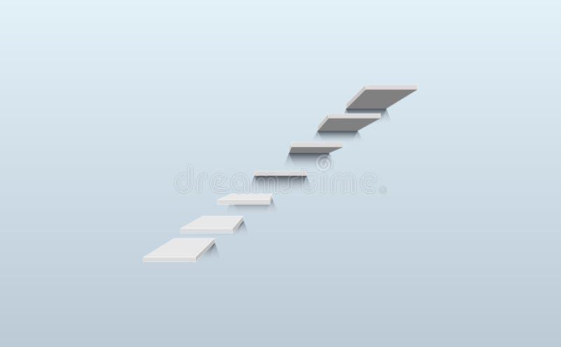 Seitenansicht des Schrittes der Treppe sieben vektor abbildung