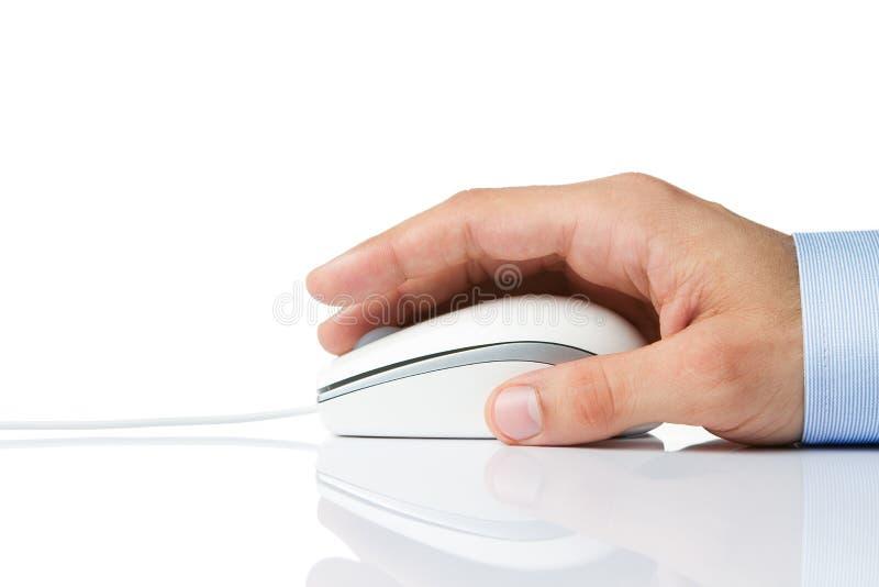 Seitenansicht einer Computermaus stockbild