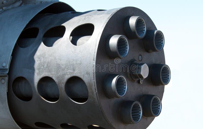 Seitenansicht eines Rächers 30 Millimeter-Kanone stockfoto