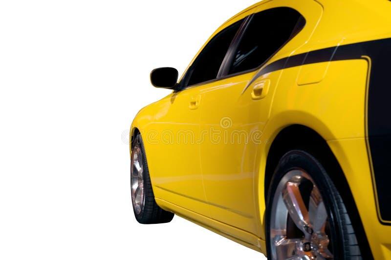 Seitenansicht hinunter ein Muskel-Auto lizenzfreie stockfotografie