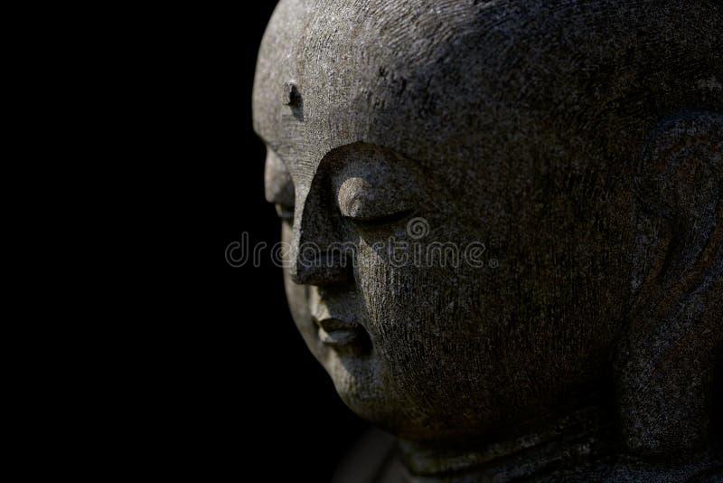 Seitenansicht von Buddhas Gesicht lizenzfreies stockbild