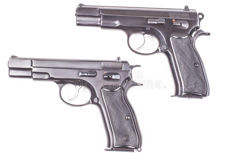 Zwei Gewehre lizenzfreie stockbilder