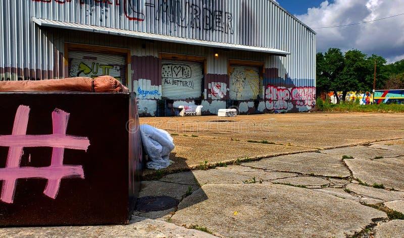 Seitenansichtleben in der stadt stockfotografie