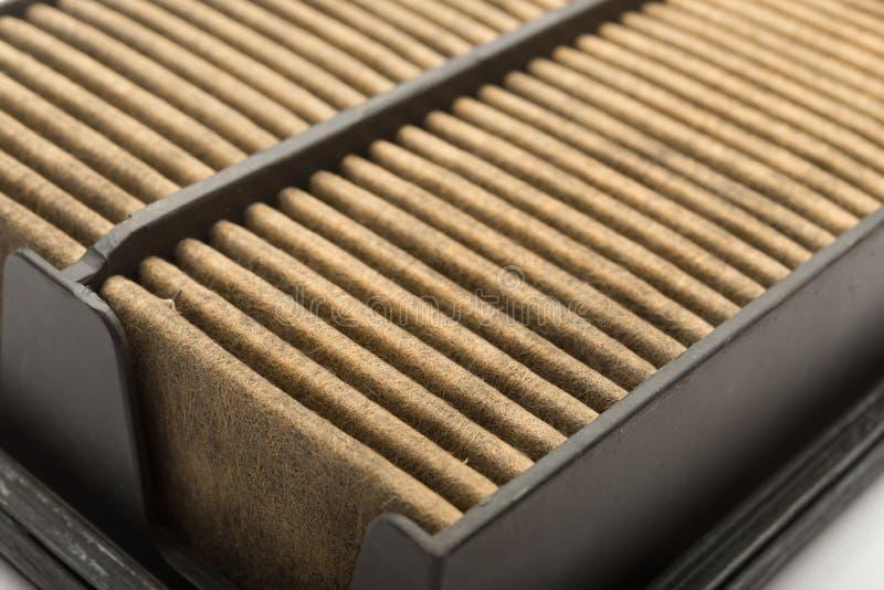 Seitenansichtluftfilter für Auto auf Weiß stockfotografie
