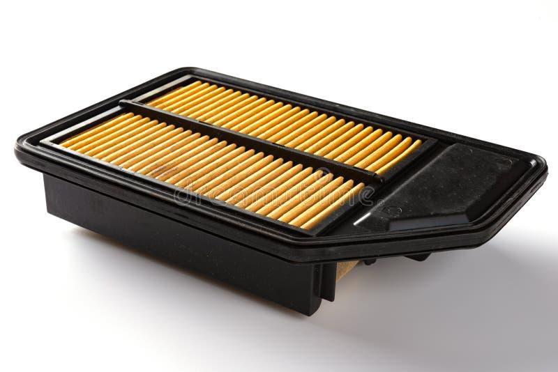 Seitenansichtluftfilter für Auto auf Weiß stockfotos