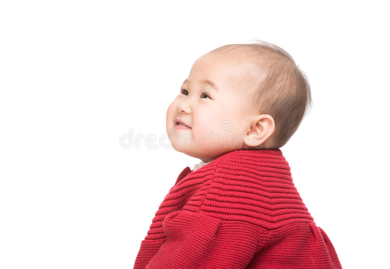 Seitenporträt des Babys stockfotografie