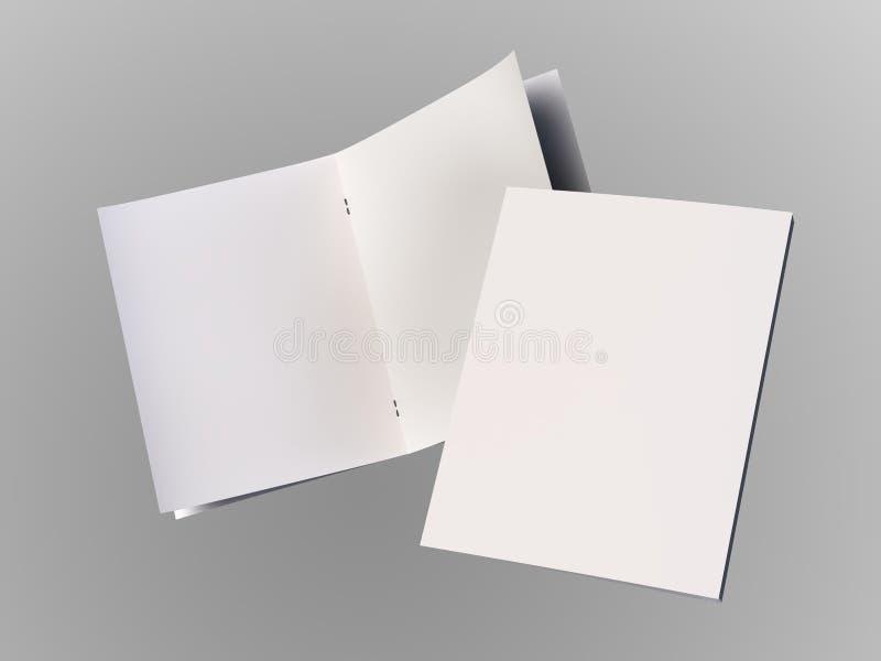 8-seitige leere Broschüren-Schablone des erstaunlichen freien Raumes vektor abbildung