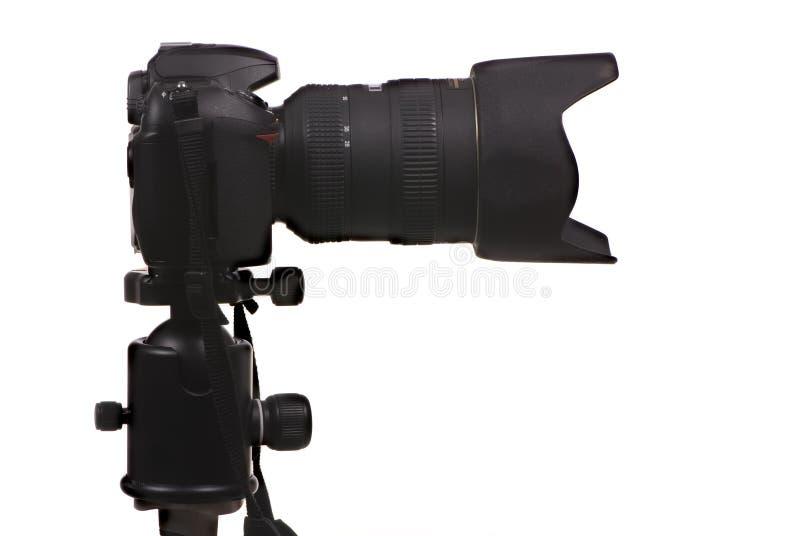Seitlicher Schuß der Digitalkamera DSLR stockfoto