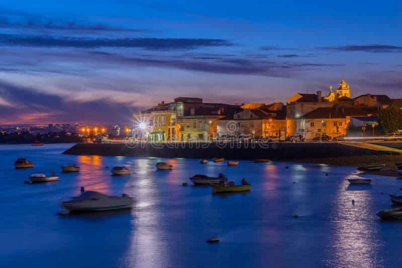 Seixal - Amora - Portugal. View over Seixal Bay, Portugal stock photo