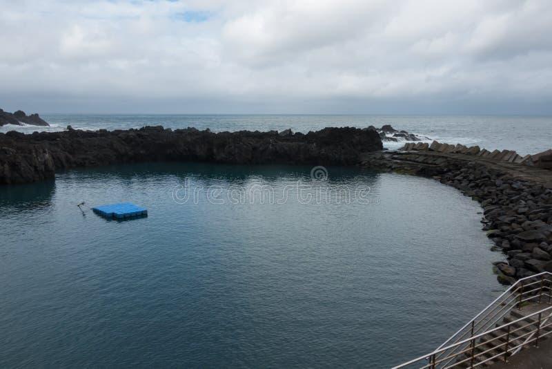 Seixal Natural Pool in Madeira, Portugal. Seixal Natural Pool in Madeira, in Portugal stock image