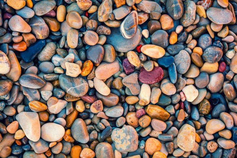 Seixos coloridos do vintage foto de stock