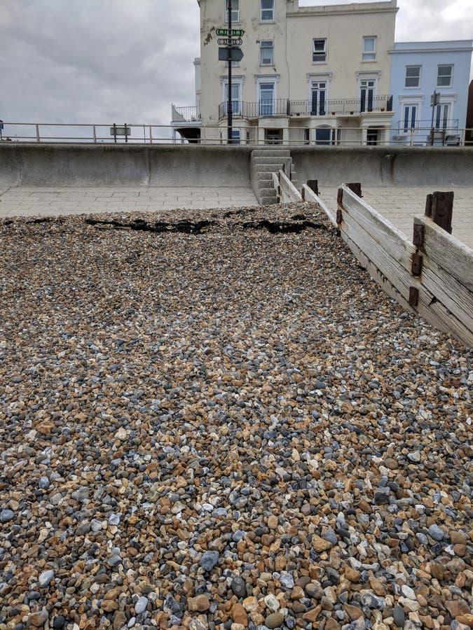 Seixos da praia de Margate fotos de stock