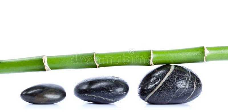 Seixos e bambu ilustração stock