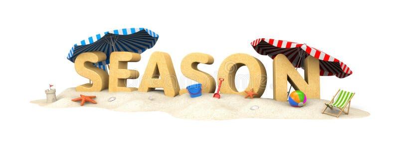 SEIZOEN - woord van zand vector illustratie