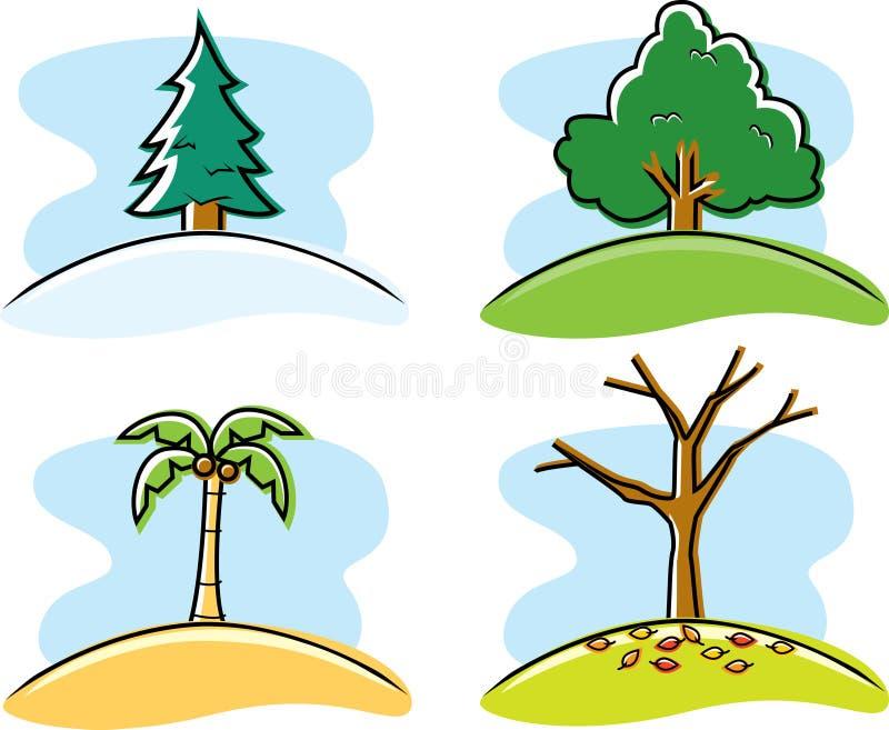 Seizoenen vector illustratie